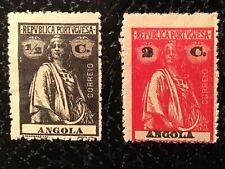 PORTUGAL ANGOLA 1920 CERES 1/2 C BROWN  & 2 C RED MINT OG