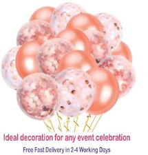 "12"" Rose Gold Confetti Filled Balloon Helium Birthday Party Wedding Decoration"