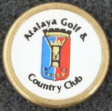 VINTAGE ATALAYA GOLF & COUNTRY CLUB SPAIN GOLF BALL MARKER. METAL.  UK Dispatch