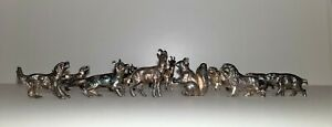 Set of 6 silverplated WMF Knife rests Lion - Fox - Squerrel - Goat - Boar