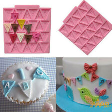 3D Silicone Alphabet Letter Trays Chocolate Mold Cake Fondant Decorating Tools x