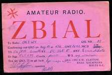 CARD  CARTE  QSL  radio amateur  MALTE  MALTA    ( 440 )