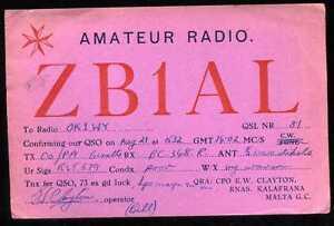 CARD  CARTE  QSL  radio amateur  MALTE  MALTA    ( 440 )