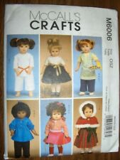 "18"" DOLL NEW McCalls 6006 Pattern Christmas Dress Karate Fits American Girl"