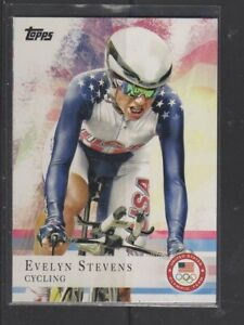 EVELYN STEVENS - 2012 OLYMPICS CYCLING -  TOPPS #96
