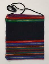 GREECE GREEK OLD  HANDWOVEN  PATCHWORK  WOOL BAG  IN TRADITIONAL DESIGN 26x30cm