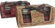Merry Christmas Scented Wax Candles - Spiced - Apple & Cinnamon, Clove & Ginger