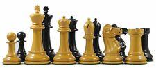 "1978 Olympiad Havanna 3.78"" Reproduction Antiqued Box wood & Ebonised Chessmen"