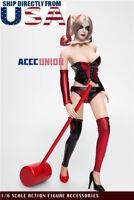 """1/6 Female Joker Clown Clothing Set For Harley Quinn 12"""" PHICEN Hot Toys Figure"""
