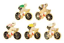 Tour de France Cycling Pin Badge Set - Rainbow, Yellow, Green, White & Polka Dot