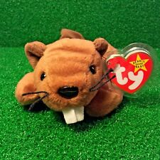 Ty Beanie Baby Bucky The Beaver PVC Retired 1995 Deutschland MWMT Free Shipping