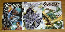 Knights on Broadway #1-3 VF/NM complete series - geof isherwood - broadway comic