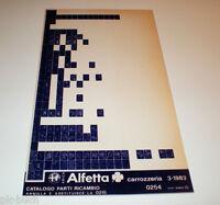 Microfich Catálogo de Piezas Repuesto Alfa Romeo Alfetta Carrocería Marzo 1983