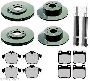 VECTRA B FRONT & REAR BRAKE DISCS & PADS SET REAR SHOCK ABSORBERS PAIR NEW