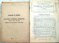 1888 CATOLOGHI LIBRERIE ANTIQUARIE DANTE E CLAUSEN