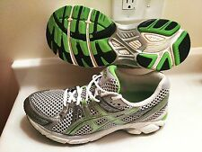 WOMENS ASICS GEL-1170 DUOMAX RUNNING SHOES SIZE 10 TRAINING GREY GREEN