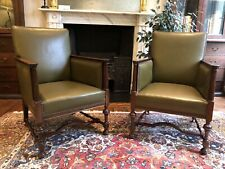 More details for pair of beautiful victorian 19th century library chairs