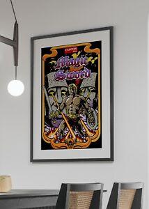 Magic Sword 1990 Capcom Arcade Video Game Retro Art Poster 24 x 36 inches