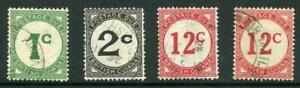 British Guiana SGD1/D4 plus shade of 12c Fine used Cat 30.50 pounds