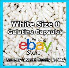Gelatine Empty Filling Capsules Size 0 Capsule White  100 - 10,000