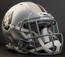 ***CUSTOM*** OAKLAND RAIDERS NFL Riddell Speed AUTHENTIC Football Helmet
