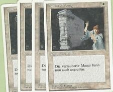 TCG MTG 88 Magic the Gathering 4th Edition muro ripresa PLAYSET (4)