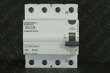 Dorman Smith 40 a 30 Ma RCD Rccb llma40/30/4 tres fase-Probado-Entrega Gratis