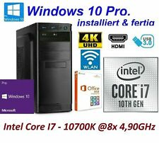 Office Komplett PC System Intel i7 10700K 8x 3,80GHz 16GB RAM 1000GB SSD 1TB -04