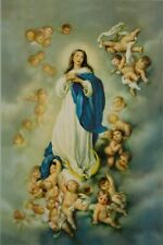 Immaculate Conception Virgin Mary Roman Catholic Icon Postcard 10x15 cm