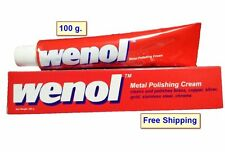 2x RED WENOL METAL POLISH CLEANER ALL FOR BRASS COPPER STAINLESS STEEL TUBE 100G
