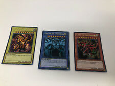 3 Egyptian God Cards LC01-EN001 Limited Edition Promo