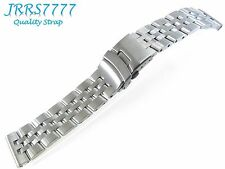 22mm Solid Stainless Steel bracelet watch band wristband new Titanium BRETLING