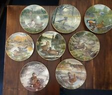 """""""Living with Nature"""" by Bart Jerner Collector Plates Ducks - Lot of 8- Knowles"""