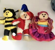 Bundle Of 3 Retired Beanie Kids Bears EC