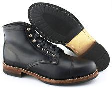 Men's WOLVERINE 'Adrian 1000 Mile' Black Cap Toe Leather Boots Size US 10.5 - D