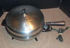Vintage Farberware Electric Fry Pan Skillet 312-B Dome Lid Stainless Steel 310