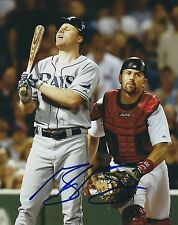 Signed 8x10 Gabe Gross Tampa Bay Rays Autographed photo - Coa
