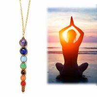 de reiki naturelles 7 chakra de perles pendentif en forme de yoga des bijoux