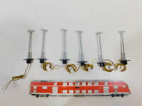 CB483-0,5# 6x Viessmann H0 Lampe/Leuchte/Laterne (70 mm), geprüft, NEUW