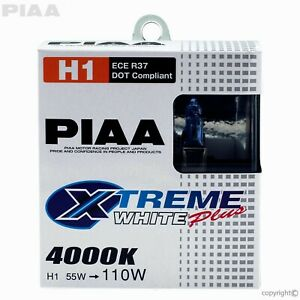Headlight Bulb H1 Xtreme White Plus Replacement Bulb PIAA 11655