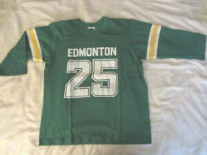 Vintage Edminton Eskimos #25 shirt midshort sleeves 1970's 1980's Made in Canada