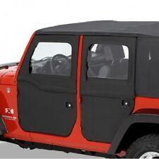 Jeep Wrangler Jk 4 PUERTAS Ilimitado Kit Divisible TRASERO NEGRO Bestop 07-17