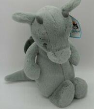 "Jellycat Medium Bashful Dragon Plush Green Blue Stuffed Animal 10"""