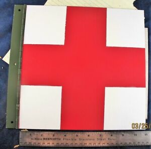 HMMWV Red Cross Vehicular Body Panel MILITARY VEHICLES Hinged Aluminum [A7S3]