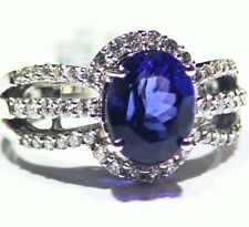 4.36CT 14K Gold Natural Tanzanite Diamond Vintage AAA Art Deco Engagement Ring