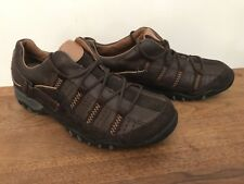 Brand New Spring Step DARK BROWN Leather Lace Up Athletic Oxford Shoes sz 37 6.5