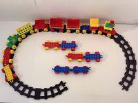 LEGO DUPLO LOT RAILROAD BLACK TRAIN TRACKS CARS & MORE
