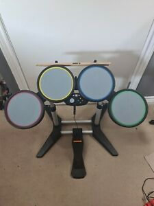 RockBand Drum Kit Xbox 360 With Pedal & Sticks Tested Working