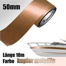 ZIERSTREIFEN 10m KUPFER - METALLIC 50mm Auto Boot Jetski Dekorstreifen COPPER 50