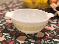 Vintage Pyrex 442 Verde Green Square Flowers Cinderella Bowl 1 1/2 Quart Nesting